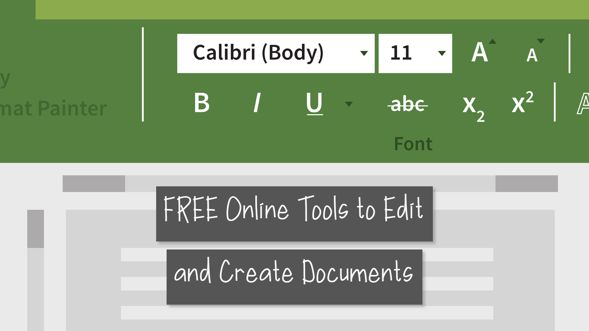 online tools to edit documents